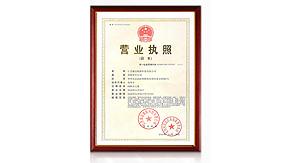 森迈企业执照证书